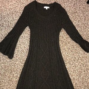 Brown sweater dress